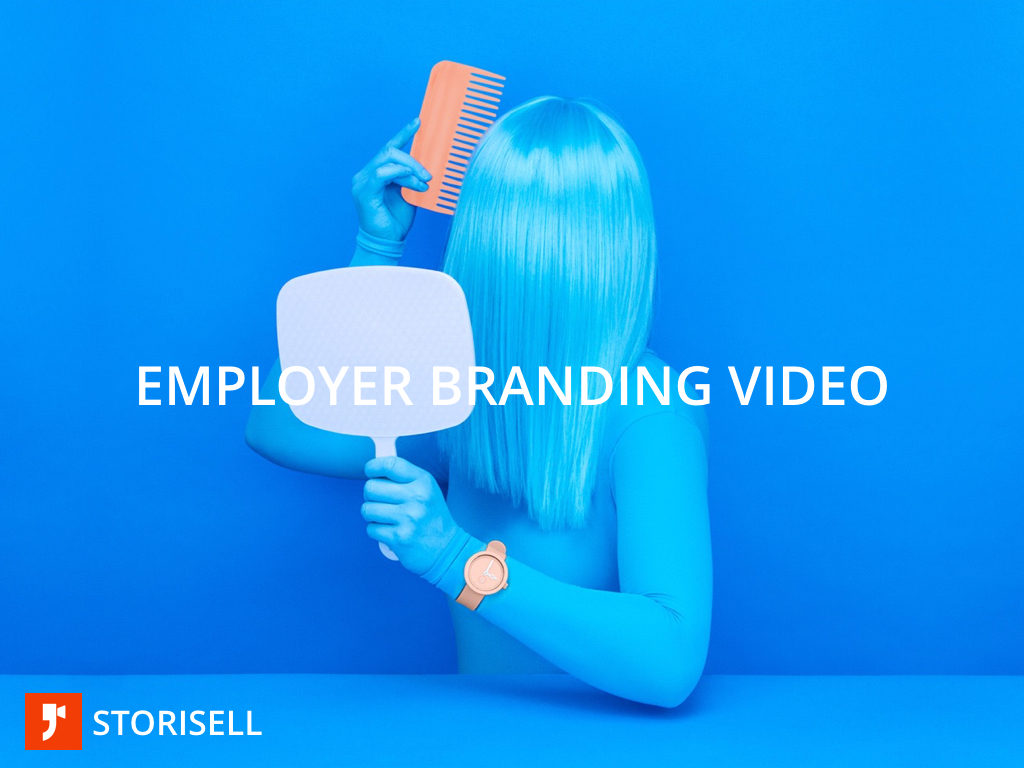 "Employer branding video recuritment marketing video by Storisell. Why consider an employer branding video? Here's our take on recruitment marketing and employer branding video campaigns. Let's explain. Hiring great people also means recruiting great applicant leads. A modern organisation should apply sales and marketing principles to their recruitment in order to find, hire and retain the best people. Employer branding videos are efficient tools to help your team get there. Over 60% of people are visual learners according to established NLP-studies. We process images 60,000 times faster than plain text and 90 percent of all information transmitted to the brain is visual. Making an employer branding video campaign a powerful tool for recruitment objectives. Recruitment marketing and employer branding video campaigns go hand-in-hand, and gives your organisation an opportunity to share, educate and influence prospective candidates. Every creative process is unique and requires an effective process in order to save time, money and energy. At Storisell we have created a workshop model that conducts over 90% of preparatory work by mapping and selecting pre-production activities. This workshop model is an agile approach to the creative process. A normal workshop runs between three to four hours. You will – in a fun and creative workshop – experience the creative process and take the steps necessary to crafting your employer branding video campaign. So, what is recruitment marketing? Recruitment Marketing is ""every tactic – content marketing, email nurturing, social recruiting, mobile recruiting, career site, SEO, employee referrals, talent networks, job marketing, employer branding, recruiting events, recruiting analytics, CRM that a talent acquisition team uses to find, attract, engage and nurture leads in order to convert them into more qualified applicants to fill jobs now and in the future."" Why is recruitment marketing important? There is a recognizable trend in the candidate marketplace which non-mistakenly implies that top candidates also have lot's of choices. A company that wants to enroll top talent is competing among other employers for that same talent pool, which is why recruitment marketing is an efficient strategy to deploy in order to find the top people. At Storisell we craft employer branding video campaigns that enable you to reach candidates with high-engaging content that is tailored to your organizational needs and positions. Start your next employer branding video campaign with Storisell Present your employer brand in less than 90 seconds with an employer branding video from Storisell. Explain to candidates why choosing your company will boost their careers. Perfect for your recruitment process, interviews and job postings. Learn more: www.storisell.com/employer-branding-video"