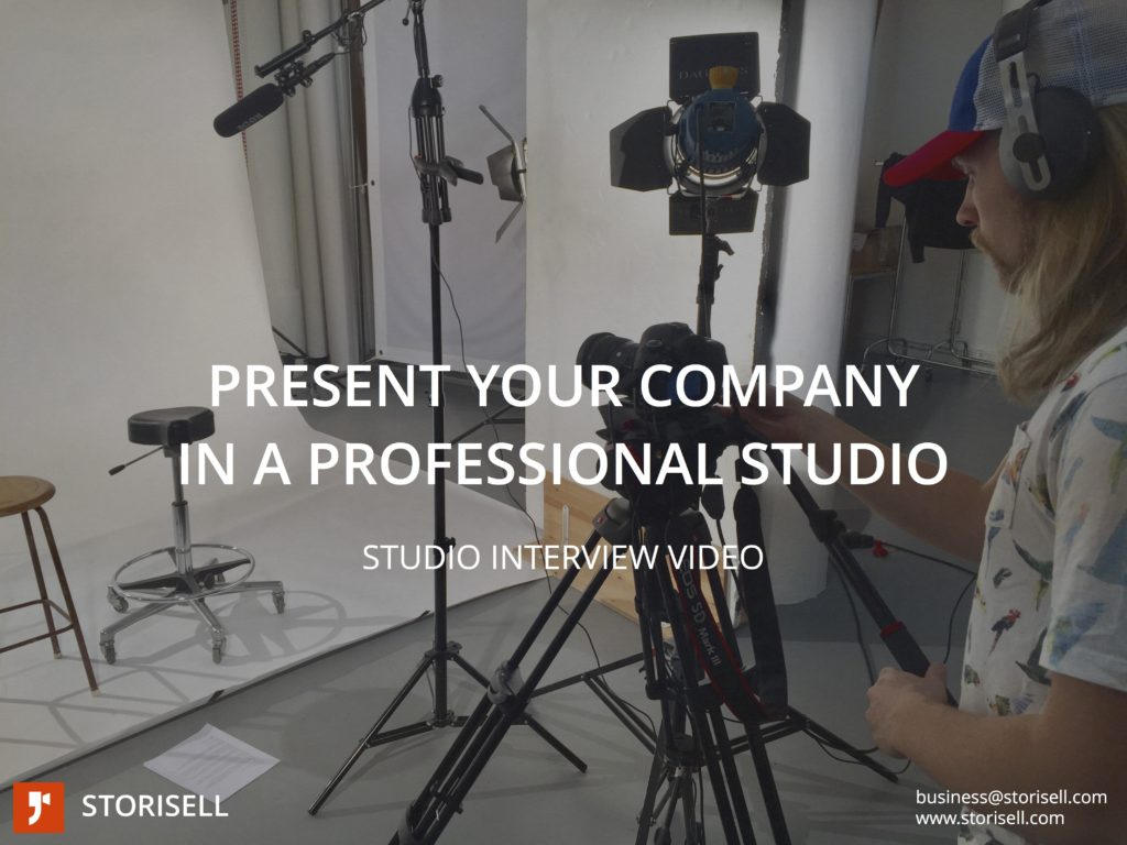 Studio Interview Video Production by Storisell www.storisell.com/studio-interview-video