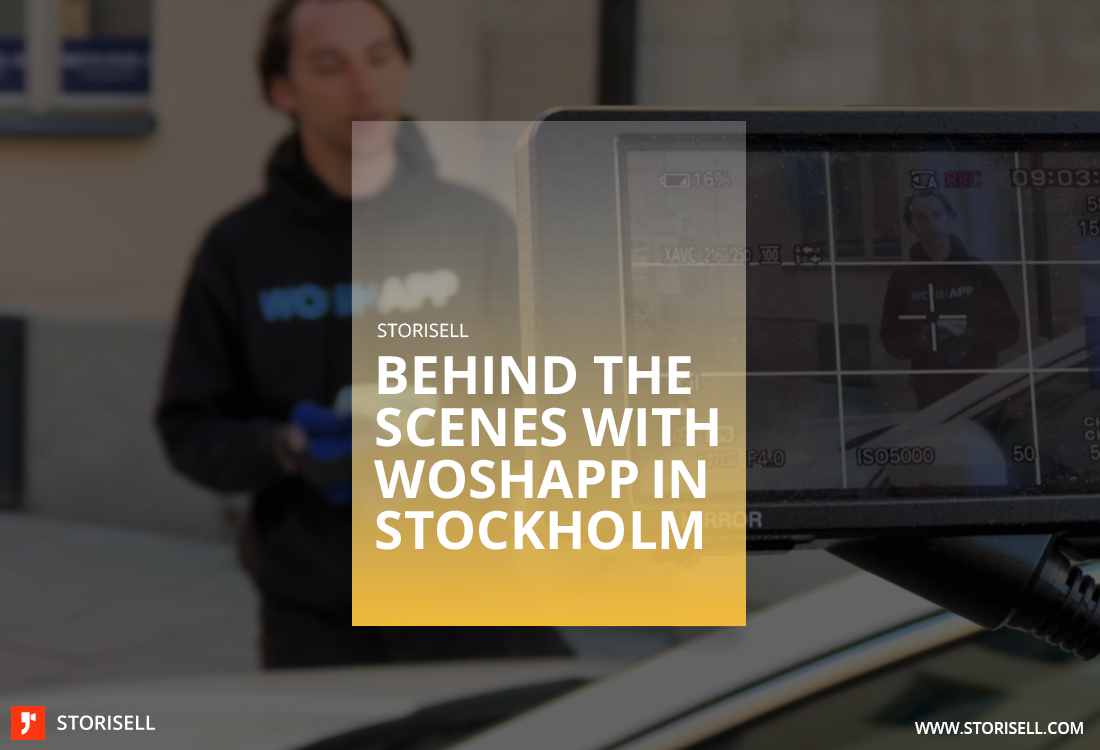 Storisell Behind the scenes with WoshApp in Stockholm